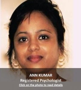 Ann Kumar Registered Psychologist